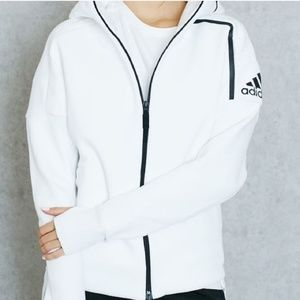 ADIDAS ZNE White Clean Line Hoodie Jacket